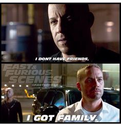 "Dom & Brian- Furious 7 ""I Got Family"""