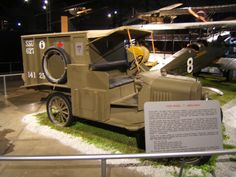 WW1 Ford ambulance vehicle and placard.