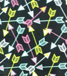 Blizzard Fleece Fabric Geo ArrowsBlizzard Fleece Fabric Geo Arrows,
