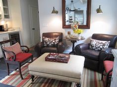 Cozy sitting room - great use of space  Love this whole house! This space is off the kitchen