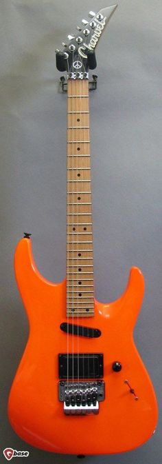 1991 Charvel Fusion Deluxe Fluorescent Orange > Guitars : Electric Solid Body - Imperial Guitar & Soundworks