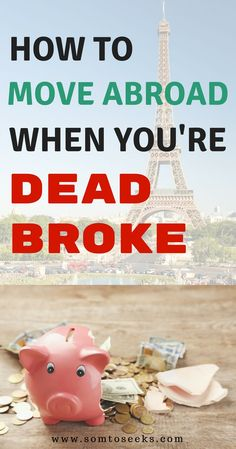 Thinking about living abroad? This is your guide to move abroad even if you're dead broke. I'll share how I moved abroad with little money and traveled on a budget for nearly a year. Tips for living abroad and saving money to travel. Don't let money stop Free Travel, Cheap Travel, Budget Travel, Europe Budget, Travel Jobs, Travel Hacks, Travel Money, Business Travel, Travel Ideas