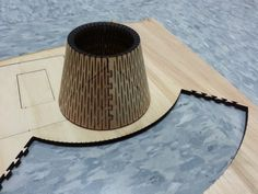 """numeratordesign: """" Today's laser cutter experiment. I'll be nudging this in to a lamp. 1/4"""" plywood and AutoCAD 2D """""""