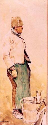 The Millet Beer Seller - Stefan Luchian Art Database, Impressionism, Painters, Beer, Bucharest, Root Beer