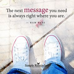 """""""Your next message"""" by Ram Dass with article by Wendy L. Yost"""