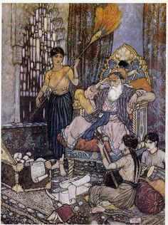 Edmund Dulac: illustration to Quatrain XI of the Rubaiyat