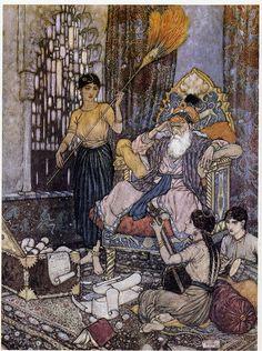 Edmund Dulac: illustration to Quatrain XI of the Rubaiyat
