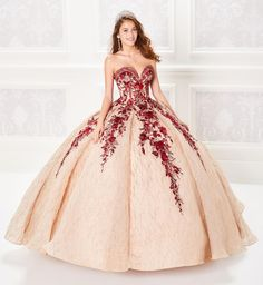 Quinceanera dresses from lovely lace to glamorous edge, we can't wait to see how you wear Princesa on your special day! Champagne Quinceanera Dresses, Pretty Quinceanera Dresses, Wedding Dresses, Quinceanera Planning, Quince Dresses, 15 Dresses, Dresses For Sale, Vestido Charro, Perfect Prom Dress