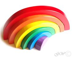 ITEM DETAILS Type: Wooden rainbow toy.. Parts: 6 Size approx: 27x15x2.3cm (10.62x5.9x0.9inch) Color: red, orange, yellow, green, blue, purple. Condition: brand new Please note, that item will be shipped as registered priority mail, so you will get a tracking number. ♥ ♥ ♥ Game develops