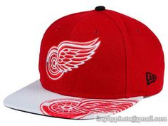 Detroit Red Wings Gym Class Snapback Hats Brim Big Logo|only US$8.90 - follow me to pick up couopons.