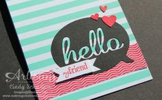 Nutmeg Creations's Cindy Schuster - Hello Fresh Print E-Cutter card with My Digital Studio by Stampin' Up!