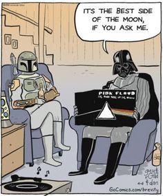 Dark side humor