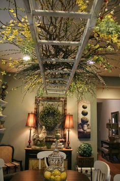 Image result for branches wisteria fairy lights hanging from ceiling