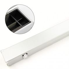 Silver 1 Piece Hard Cue Case For 2 Cues