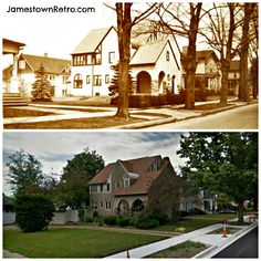 Good 509 LAKEVIEW AVE Then And Now Upper Around 1915 Lower 2013 Jamestown, NY