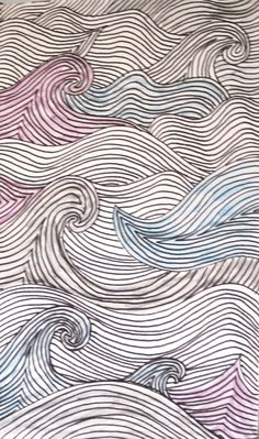Calm wave zentangle doodle
