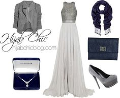 Silver gunmetal formal outfit