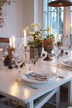 Bokcirkel table setting