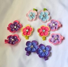 hair clips baby hair clip pink hair clip purple by creatingwithni