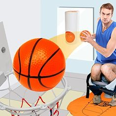 Mini Toiletten Basketball Set für Klo & WC - Basketballkorb & Bälle fürs Badezimmer