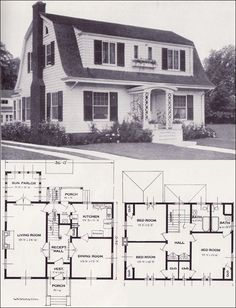 1920s Vintage Home Plans - Dutch Colonial Revival - The Washington - Standard Homes Company