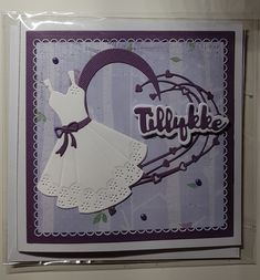 Konfirmationskort pige Scrap, Frame, Girls, Design, Communion, Picture Frame, Toddler Girls, Daughters, Maids