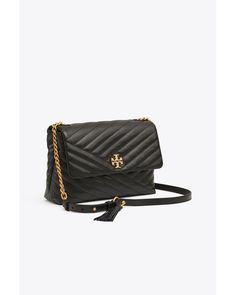 10dabd468 Tory Burch - Black Kira Chevron Flap Shoulder Bag | 001 | Shoulder Bags -  Lyst