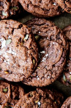 Chocolate Chunk Pumpkinseed Cookies recipe: Trust us, these are better than chocolate chip.