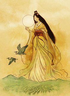 Random Colours: More Shinto goddesses