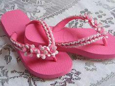 Chinelos Adriana sandalias decoradas con perlas