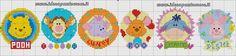 bordura punto croce Winnie Pooh