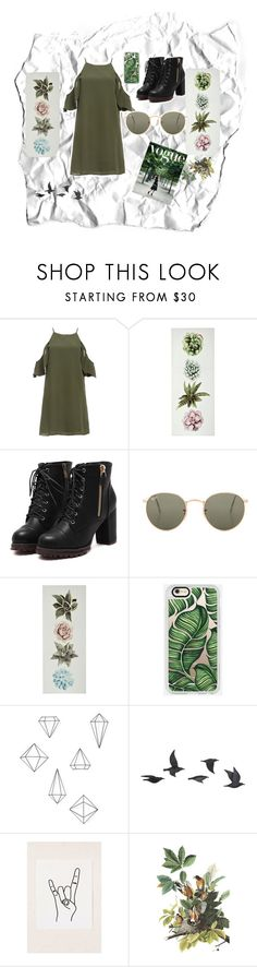 """""""Bez naslova #4"""" by almahurtic ❤ liked on Polyvore featuring DailyLook, Ray-Ban, Casetify, Umbra, Jayson Home and Urban Outfitters"""