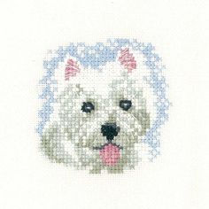 Westie Puppy   Heritage Crafts Counted Cross Stitch Kit