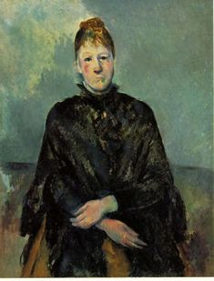 paulcezanne-art:  Portrait of Madame Cezanne, 1887Paul Cezanne