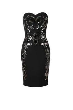 "<p>Lanvin Embellished Neoprene Dress, $8,354; <a href=""http://www.shopstyle.com/action/apiVisitRetailer?id=381955835"