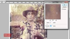 An in-depth Adobe Photoshop tutorial showing you the steps to repair an old discolored scratched photo.