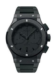 ‼️Classic Fusion All Black Bracelet Chronograph watch from Hublot
