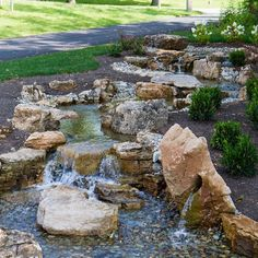 The ultimate backyard oasis! #backyardwaterfall #backyardoasis #pondfree #pondfreewaterfall #atlanticwatergardens #landscaping #contractor #nofilter #summertime #landscapersofinstagram
