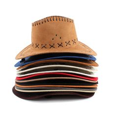 68bb34292f3 12 Colors Fashion Western Cowboy Bucket Brim Hat Cap Unisex Sunscreen Knight  Hats With Rope