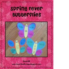 I have created these Spring Fever Butterflies to practice multiple skills this spring.  I am so excited to decorate my classroom with these fun lit...