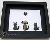 Animal Lover Gifts - Animal Themed Stone Art - Custom Pebble Art - Unique Home Decor - Pet Beach Stone Art