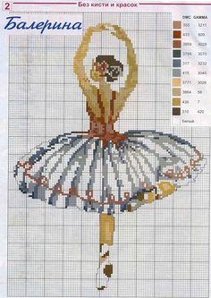 point de croix danseuse ballerine- cross-stitch ballerina girl