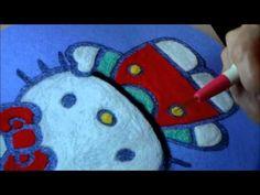 Needle felting DIY Hello Kitty - YouTube