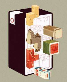 Food Tetris! - artist, Sachin Teng,formerly of New York, now living and working in California.