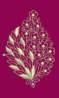 Grand Sewing Embroidery Designs At Home Ideas. Beauteous Finished Sewing Embroidery Designs At Home Ideas. Border Embroidery Designs, Embroidery Flowers Pattern, Embroidery Works, Hand Embroidery Stitches, Crewel Embroidery, Machine Embroidery Designs, Zardozi Embroidery, Embroidery Jewelry, Kashida Embroidery