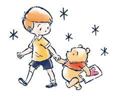 LINE Official Stickers - Winnie the Pooh & Christopher Robin Example with GIF Animation Winnie The Pooh Cartoon, Winnie The Pooh Pictures, Cute Winnie The Pooh, Winne The Pooh, Winnie The Pooh Quotes, Winnie The Pooh Friends, Cute Cartoon, Christopher Robin, Disney Sketches