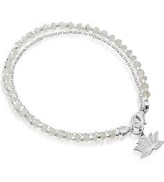 ASTLEY CLARKE - Silver lotus diamond and agate friendship bracelet | Selfridges.com