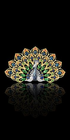 Master Exclusive Jewellery - Collection - Birds of paradise - peacock brooch