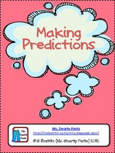 Includes: Predictions Definition SignPredictions thought bubbles for anchor chart Predictions recording sheet for thinking before readingThere . Writing Resources, Reading Strategies, Teaching Resources, Prediction Anchor Chart, Anchor Charts, Making Predictions, Balanced Literacy, 4th Grade Reading, Word Sorts