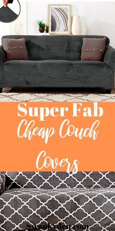 A couch cover or cover for couch is a great way to transform and DIY and on piece of furniture into something beautiful and new. Click through to see these beautiful slipcovers that can make your couch look brand new. Best Couch Covers, Cheap Couch Covers, Sofa Covers, Living Room Mirrors, Rugs In Living Room, Wall Mirrors, Room Rugs, Sectional Slipcover, Slipcovers